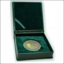 Dirbtinės odos dėžutė 60 mm monetai